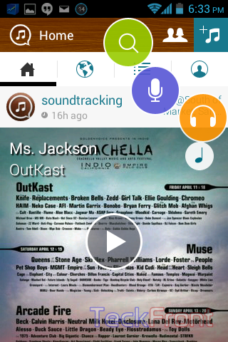 How to identify the name of the sound track being played by listening using Android