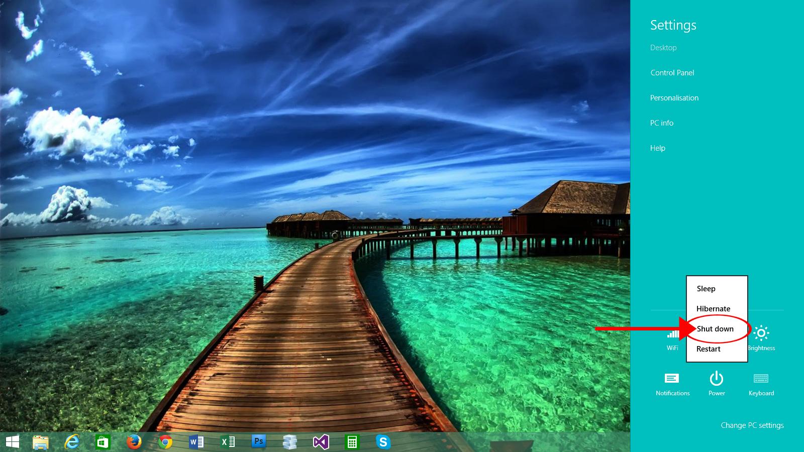 Windows8.1ShutDown8